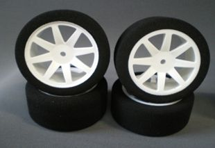 Enneti 1:10 On-road -WHITE- 30mm rear tires