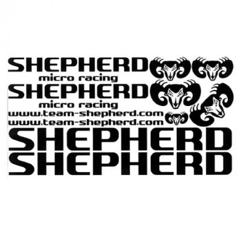 Decals Shepherd black from Shepherd Micro Racing