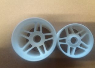Enneti 1:8 On-road -WHITE- Front tires